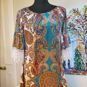 ❌SOLD ❌GORGEOUS VIBRANT COLOR TUNIC/DRESS/COVER-UP